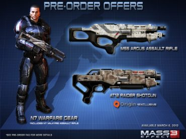 Mass Effect 3 Pre Order Bonus Revealed
