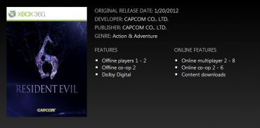 Resident Evil 6 – Six Player Co Op Outed By Microsoft