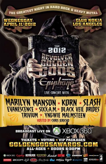 Revolver Golden Gods Rock Awards 2012 – First Xbox LIVE Stream Ever!