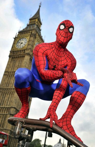 Spider-Man Swings Into London To Celebrate Game Launch