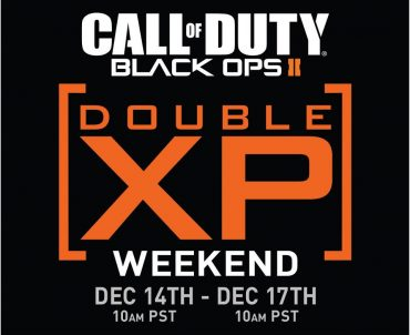 Black Ops 2 – Double XP This Weekend Dec 14 – 17