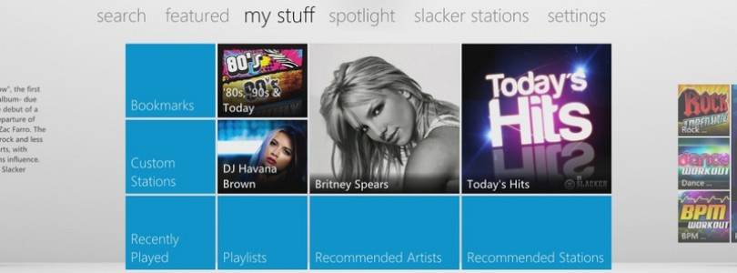 US and Canada – Slacker App Now On Dashboard