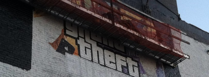 Grand Theft Auto V Cover Art Being Painted On Buildings
