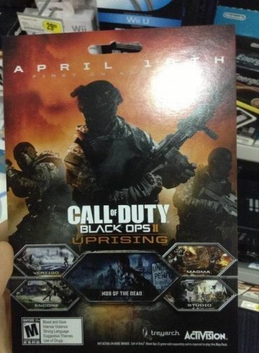 Black Ops 2: Uprising Map Pack DLC Dated April 16