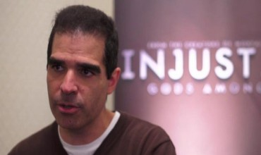 Ed Boon – Director of NetherRealm Studios Signing Injustice: Gods Among Us At UK Launch Event