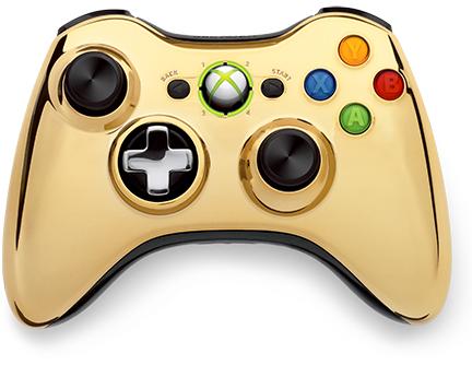 gold controller xbox