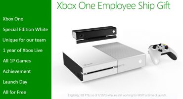 Xbox One in Special White Edition Free For MS Employees