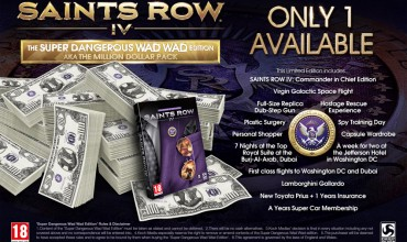 Saints Row IV – The One Million Dollar Super Dangerous Wad Wad Edition