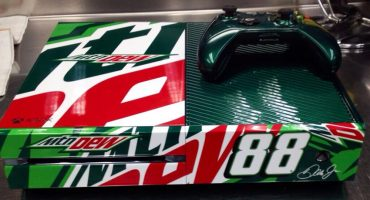 Mountain Dew Skinned Xbox One Pictured