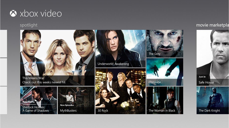 xbox video windows 8
