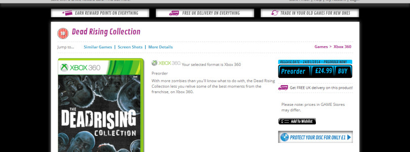 Dead Rising Collection Spotted for Xbox 360