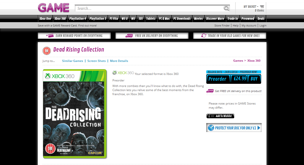 game dead rising collection