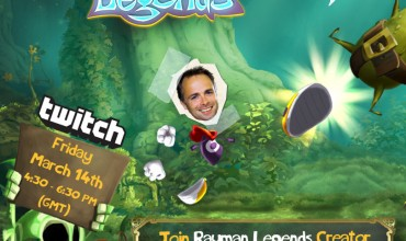Michel Ancel and his team To Stream Rayman Legends on twitch.tv
