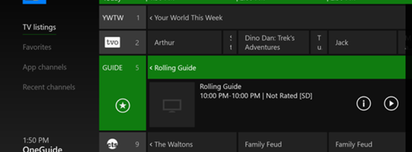 New OneGuide Features for Select Global Xbox One Users