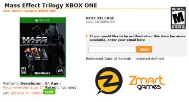 Retailer Leaks Mass Effect Trilogy for Xbox One