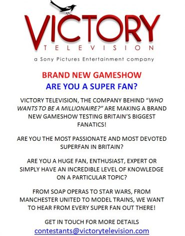 UK Based Gaming Superfans – Do You Want to be on a TV Show?