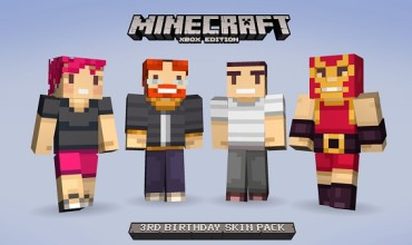 Minecraft celebrates its 3rd birthday with free skins