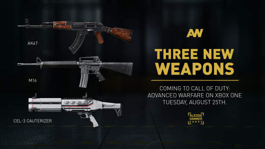advanced warfare new guns