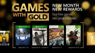 Tomb Raider and Crysis 3 now available on Games with Gold