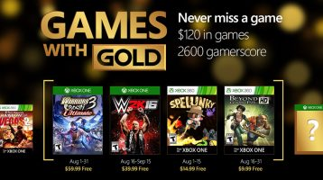 August's Games with Gold revealed