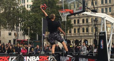 #NBA2K17 takes over Trafalgar Square