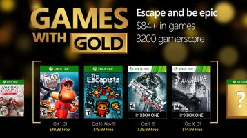 Xbox Games with Gold announced for October