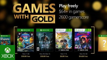 November 2016 Games with Gold announced