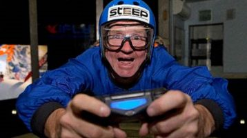 Eddie The Eagle earns a videogame world record with STEEP