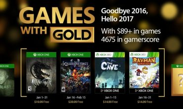 Games with Gold for January 2017 announced